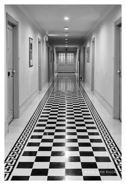 Hallway, Raffles Hotel D' Ankor, Siem Reap, Cambodia