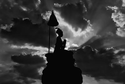 Statue of Bhupatindra Malla <br /> (Bhaktapur, Nepal)