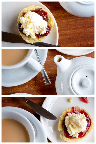 Afternoon tea triptych