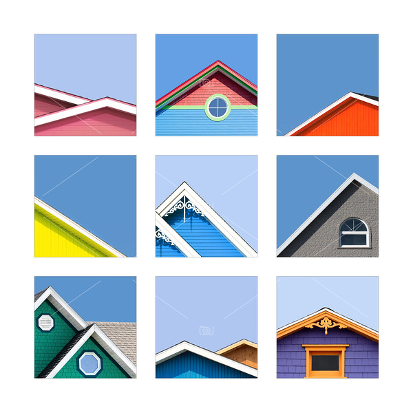 Collage of the rooftops of the Magdalen Islands