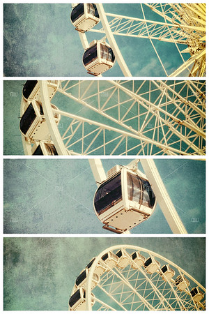 Ferris wheel retro ollage