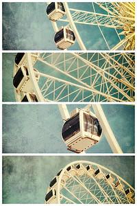 Ferris wheel retro ollage