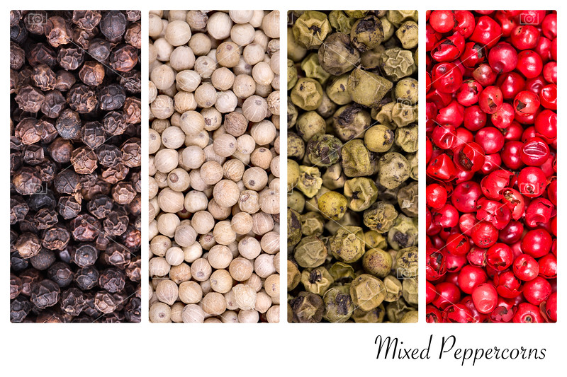 Peppercorn collage