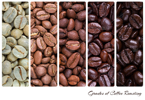 Grades of coffee roasting