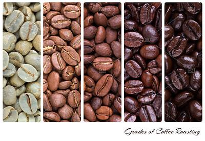 Grades of coffee roasting