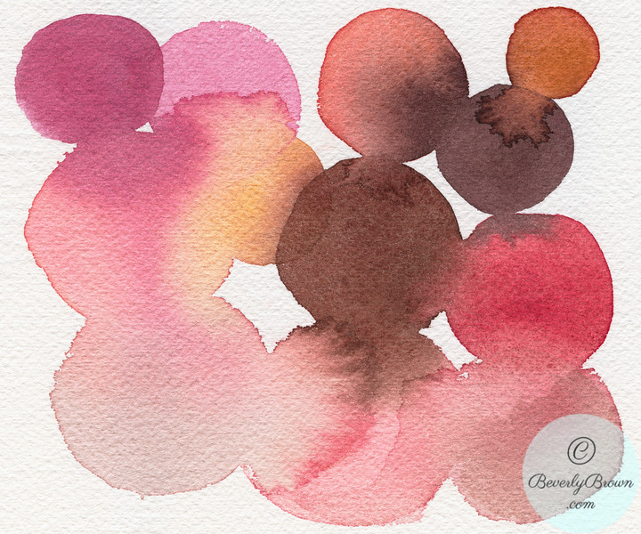 Pink Brown Coral Abstract - Beverly Brown Artist