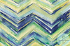 Abstract Watercolor Painting - Chevron Pattern  - Beverly Brown Artist