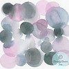 Lavender And Gray Circles - Beverly Brown Artist