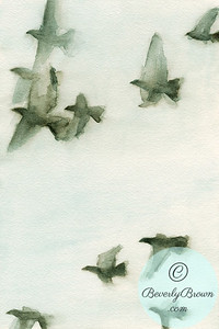 Flock of birds 2  - Beverly Brown Artist