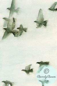 Flock of birds 2  - Beverly Brown Artist