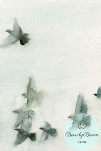 Flock of birds 1  - Beverly Brown Artist