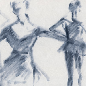 Ballet Sketch Two Dancers Head Back - Beverly Brown Artist