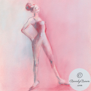 Rose Pink Ballerina - Beverly Brown Artist