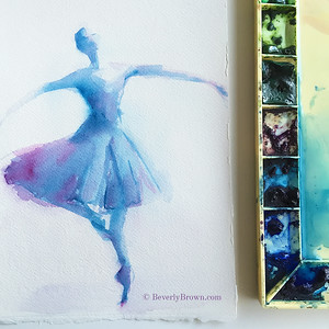 Blue Purple Ballerina - Beverly Brown Artist