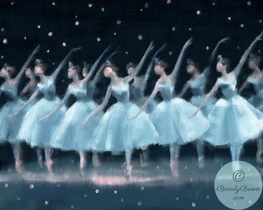 Nutcracker Ballet Snowflakes - Beverly Brown Artist