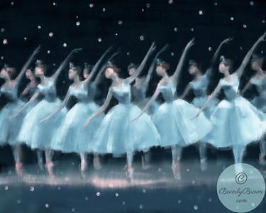 Nutcracker Ballet Snowflakes - Beverly Brown Artist