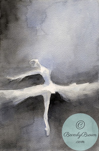 Ballerina in a white tutu.  - Beverly Brown Artist