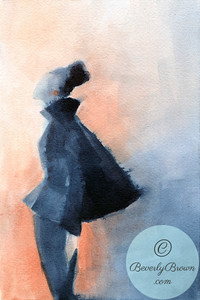 Woman in vintage Balenciaga suit  - Beverly Brown Artist