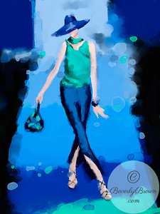 Ipad Fashion Illustration - Milan Fashion Week Armani  - Beverly Brown Artist