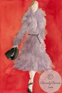 Woman in Grey Coat  - Beverly Brown Artist