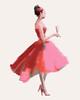 Pink Champagne Fashion Illustration - Beverly Brown Artist
