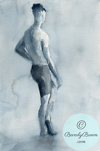 Male model in biking shorts  - Beverly Brown Artist