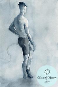 Male model in biking shorts  - Beverly Brown Artist