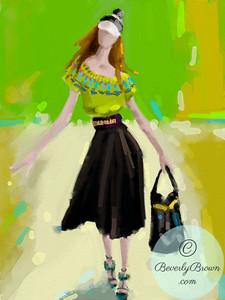Fashion Illustration - London - Burberry Prorsum  - Beverly Brown Artist