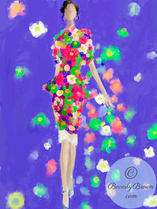 Ipad Fashion Illustration - Milan Fashion Week  - Marni  - Beverly Brown Artist