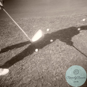 Golfer's shadow