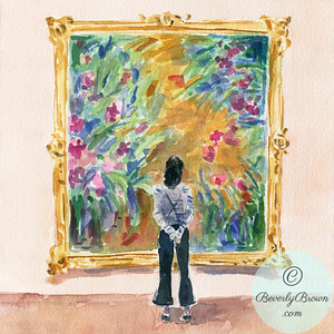 Standing in Front of a Monet - Beverly Brown Artist