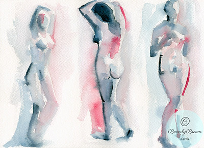 Three nude female figures. - Beverly Brown Artist