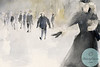 Woman Walking in the Snow NYC - Beverly Brown Artist