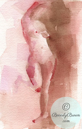 Standing female nude figure. - Beverly Brown Artist