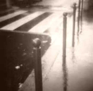 Rainy street Paris