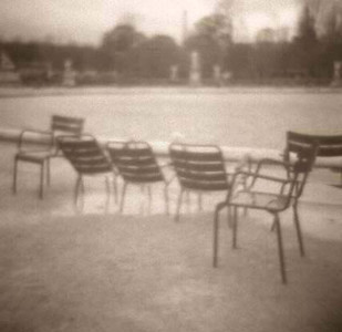 Chairs Tuileries Gardens -  Paris