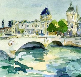 Pont de Change & Conciergerie Paris  - Beverly Brown Artist