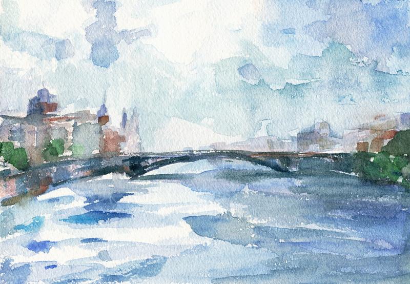 River Seine Paris - Beverly Brown Artist