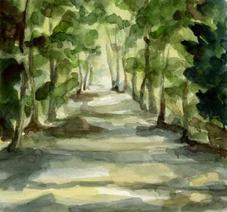 Footpath Parc de Saint Cloud  - Beverly Brown Artist