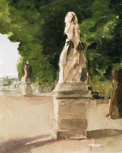 Statues Jardin du Luxembourg Paris - Beverly Brown Artist