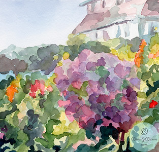Purple Blossoms Giverny  - Beverly Brown Artist