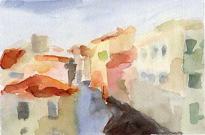 Rooftops Venice  - Beverly Brown Artist