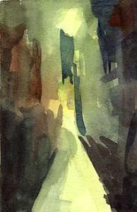 Street at Night Venice  - Beverly Brown Artist