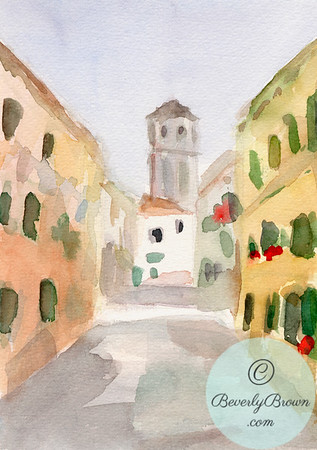Church Tower Venice Italy  - Beverly Brown Artist
