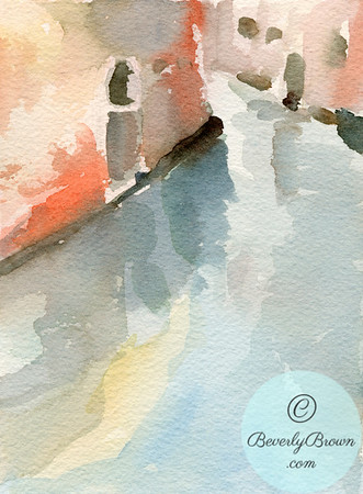 Venice Canal Reflections  - Beverly Brown Artist