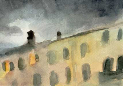 Stormy Sky - Venice, Italy.  - Beverly Brown Artist