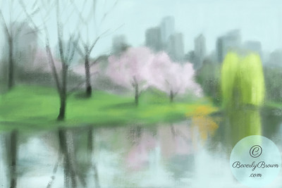 Painting of Central Park in Spring  - Beverly Brown Artist