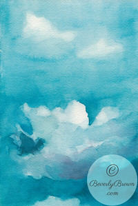 Clouds blue sky.  - Beverly Brown Artist