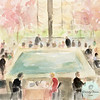 The Pool Room at the Four Seasons NYC | Beverly Brown Artist