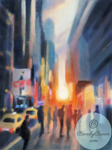 Midtown Sunset - Beverly Brown Artist